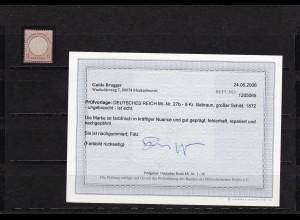 Deutsches Reich: MiNr. 27b, BPP Befund, *