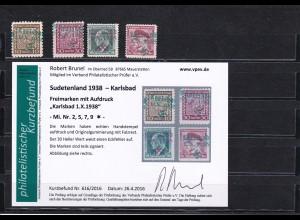 Sudetenland: MiNr. 2,5,7,9, *