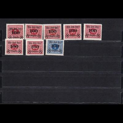 Sudetenland: MiNr. Portomarken 36-43, *