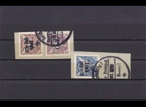 Sudetenland: MiNr. 52-54, gestempelt, Handstempelaufdruck - Zeitungsmarken