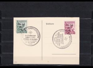 Sudetenland: MiNr. 127-128, Sokol Winterspiele