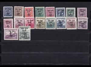 Sudetenland: MiNr. 1-19, *, Rumburg