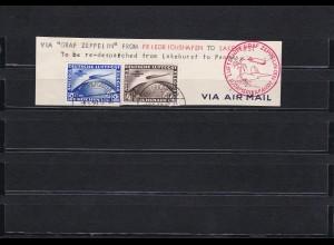 Deutsches Reich: MiNr. 438X-439X, gestempelt, BPP Attest: Südamerika Zeppelin