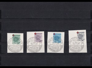 Französische Zone: MiNr. 40-43, Briefstück - Württemberg -Tuttlingen 1949, BPP