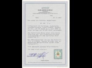 Helgoland: Farthings MiNr. 17a, gestempelt, BPP Attest