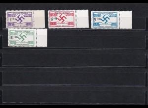 Ukraine 1944: MiNr. 21y, 22-24x, **, Hilfspost: Luboml