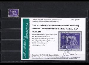 Zara: MiNr. 14 II, gestempelt