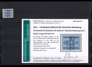 Zara - MiNr. 2 Type II PF VIII, postfrisch
