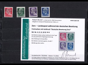 Zara - MiNr. 4,5,9,10 III, postfrisch