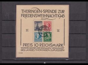 SBZ Thüringen MiNr. Block 2 t (II), gestempelt