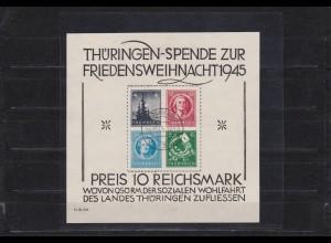 SBZ Thüringen MiNr. Block 2 x (III), gestempelt