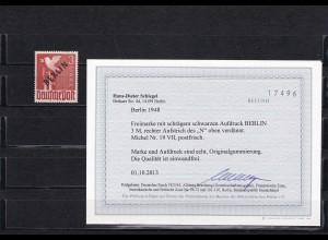 Berlin: Schwarzaufdruck: MiNr. 19 VII, postfrisch