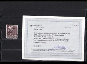 Berlin: Schwarzaufdruck: MiNr. 18 VII, postfrisch