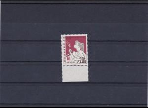 Berlin MiNr. 195 F, postfrisch vom Unterrand