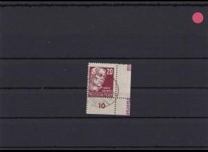 SBZ: MiNr. 219a, gestempelt, Eckrand, DZ