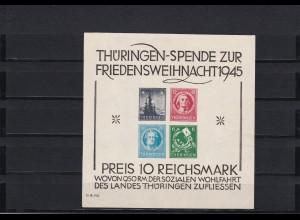 SBZ: Thüringen: MiNr. Block 2 S, postfrisch
