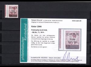 Besetzung II. WK: Kotor: MiNr. 7 L, postfrisch