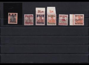 Danzig: MiNr. 41I - 46, postfrisch, BPP Befund 41I