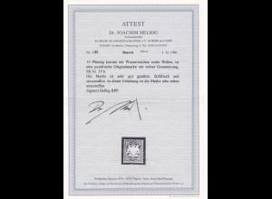 Bayern: MiNr. 39b, postfrisch, BPP Attest