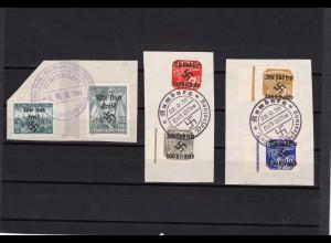 Sudetenland: MiNr. 27, 29, 32, 35, 49, 50, gestempelt