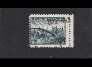 Sudetenland: MiNr. 137, gestempelt, Reichenberg 1