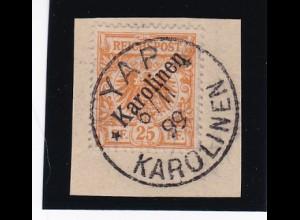 Deutsche Kolonien: Karolinen: MiNr. 5I, YAP 1899, BPP Attest