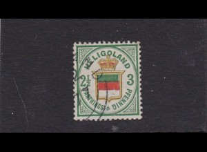 Helgoland: MiNr. 17a, gestempelt, BPP geprüft