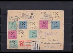 Grossräschen: MiNr. 13-24 auf R-Brief, oft Type III