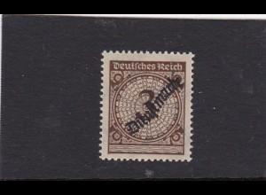 Deutsches Reich Dienst: MiNr. 99b, geprüft, postfrisch