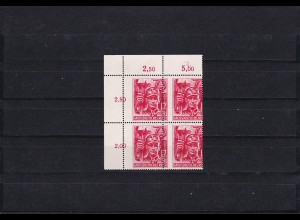 III. Reich: MiNr. 909 im Viererblock: Verzähnung, postfrisch