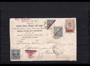 Macau: Post card 1911 Manila cigars/HGK - China to Germany
