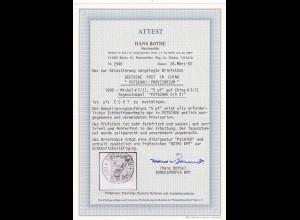 Deutsche Kolonien: China: MiNr. 7/II, Futschau 1901, gestempelt, BPP Attest