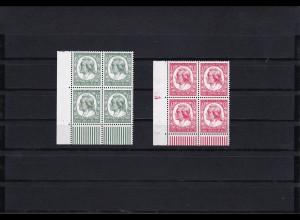 Deutsches Reich: MiNr. 554-555, postfrisch, Eckrand Viererblock