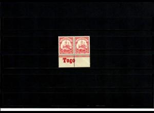 Deutsche Kolonien: Togo mit Inschrift Unterrand MiNr. 9