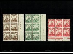Deutsche Kolonien: Samoa 3x mit HAN Nummer im Seitenrand