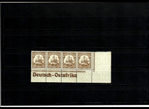Deutsche Kolonien: DOA, Eckrand mit Inschrift, MiNr. 30 II