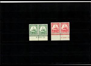Deutsche Kolonien: DOA, Unterrand mit HAN Nummer, MiNr. 31 und 32b