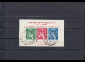Berlin: Block 1, Sonderstempel, Ersttag, BPP Attest