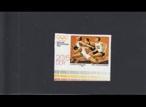 DDR: MiNr. 2504U, postfrisch: Olypmische Spiele Moskau, ungezähnt