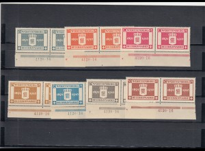 Württemberg: Bezirksmarrke MiNr. 123-129, postfrisch, HAN Nummer