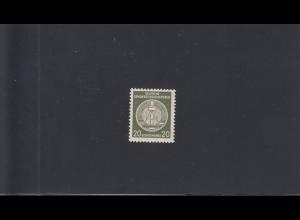 DDR: Dienstmarke MiNr. 22 xl XI, postfrisch, BPP Attest