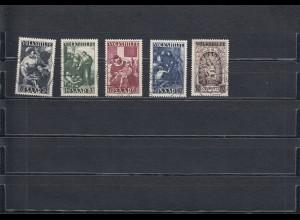 Saarland: MiNr. 267-271, gestempelt