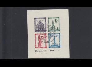 Französische Zone Baden: Block 1B IV, gestempelt, BPP Befund, Ersttag