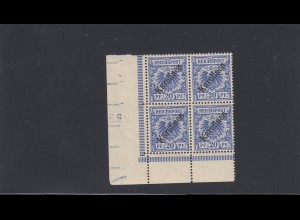 Karolinen: MiNr. 4 I, postfrisch, Eckrand-Viererblock, BPP Attest