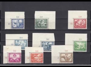 Deutsches Reich: MiNr. 499-507, B-Zähnung, postfrisch, BPP Attest