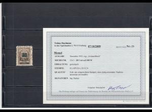 Memel: MiNr. 236 I, gestempelt, BPP Befund