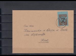 Feldpost Oberrand Nachrichten Schule Erfurt 1943 auf Brief nach Kiel