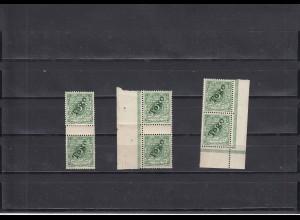 Togo: MiNr. 2, Aufdruckfehler, 3x Rand, 1x Mängel