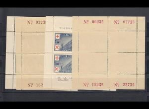 Belgien: Wallonische Legion Nr. I-IV, postfrisch