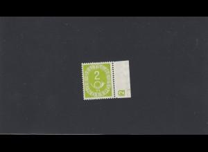 BRD: Posthorn MiNr. 123, ** mit Seitenrand und DKZ, BPP Signatur